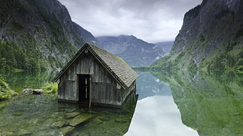 Germany hut landscape lake