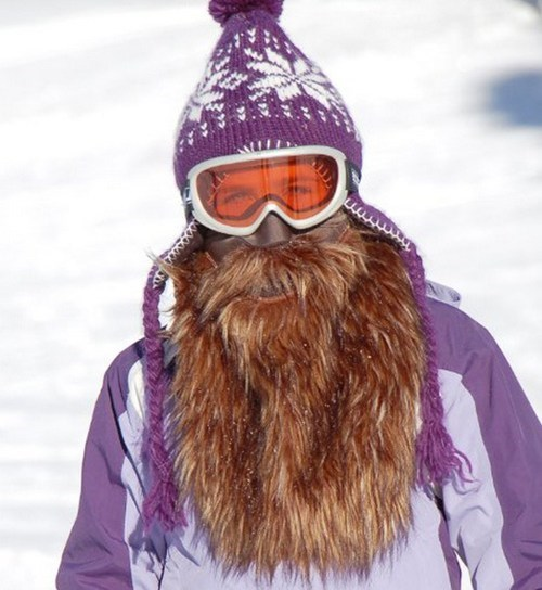 fashion beard mask manly skiing