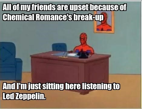 led zeppelin,my chemical romance,Spider-Man