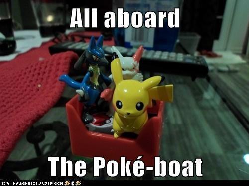 All aboard  The Poké-boat