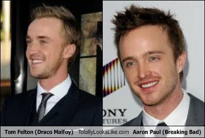 aaron paul,totally looks like,tom felton