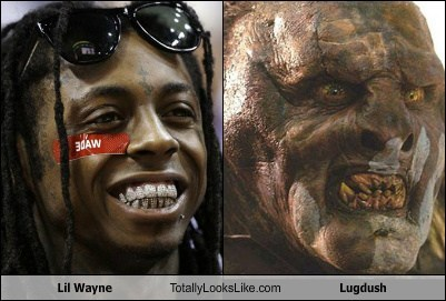 Lord of the Rings,orcs,totally looks like,lil wayne
