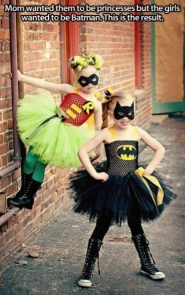 robin,childrens-costumes,batman,princesses,poorly dressed,g rated
