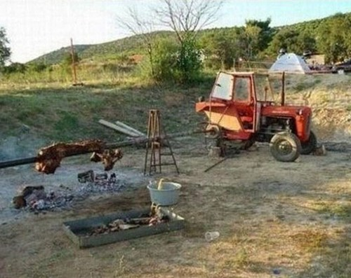 tractors,rotisserie,bbq,g rated,there I fixed it