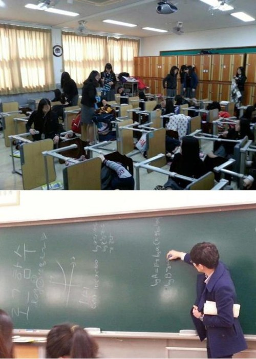 april fools,chalkboard,desks,school,students,teacher