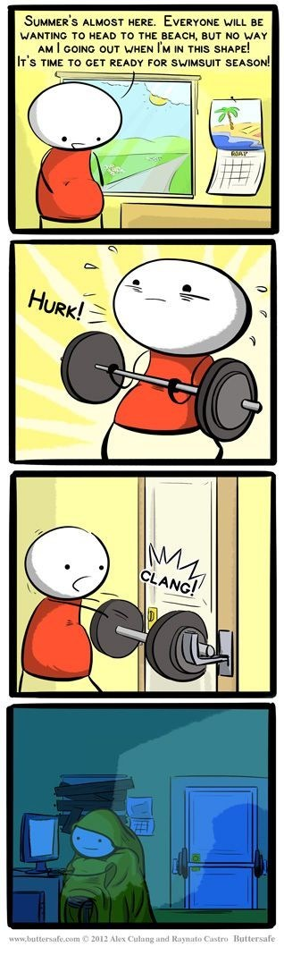 summer,comics,weight lifting