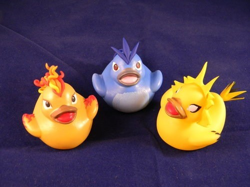 legendary birds,rubber ducks,IRL,articuno,moltres,zapdos