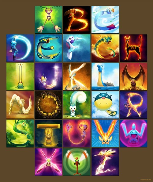 Pokémon art alphabet - 7245197824