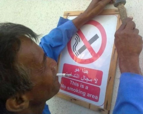 signs no smoking smoking