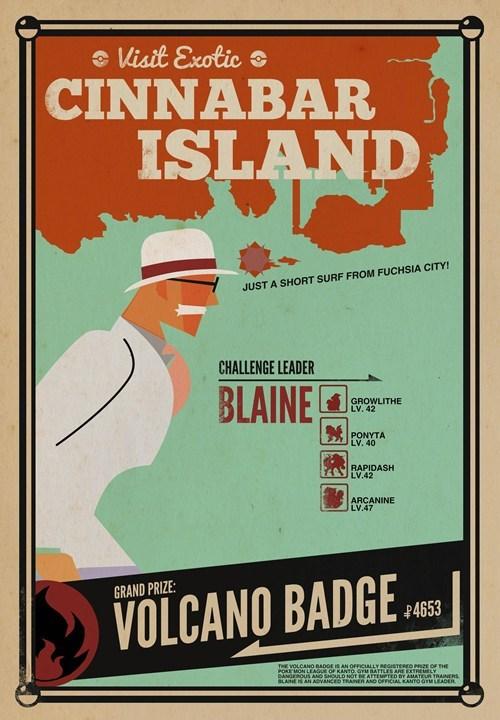 Pokémon art travelling cinnabar island - 7245226752