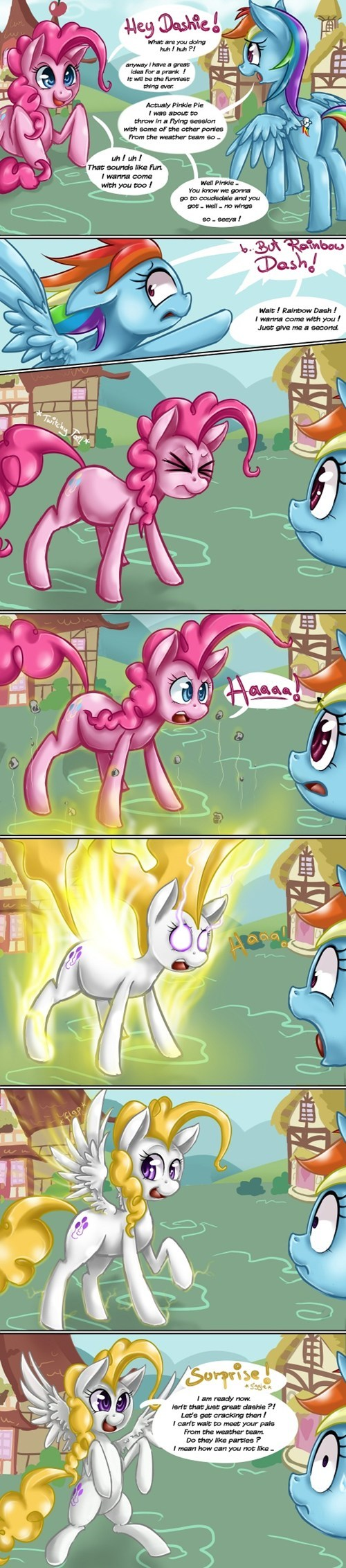 comics,pinkie pie,surprise,rainbow dash
