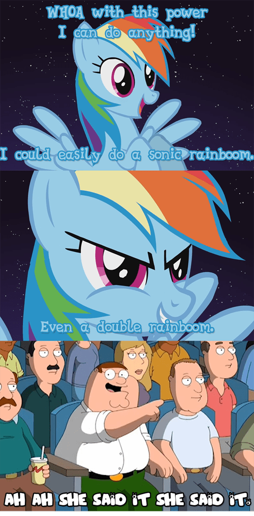 family guy rainbow dash sonic rainboom double rainboom - 7245416192