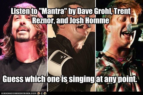 Dave Grohl josh homme trent reznor - 7245437952