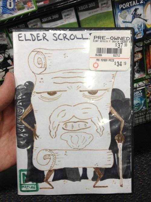 elder scrolls cover art video games