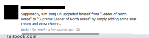 kim jong-un,taco bell,tacos,North Korea,fast food,failbook,g rated