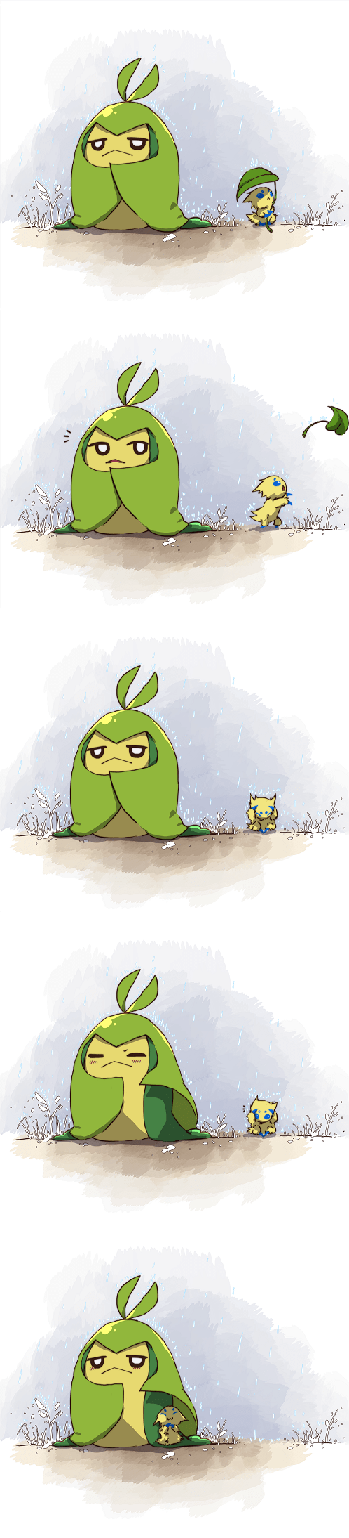 Pokémon art comics dawww joltik swadloon