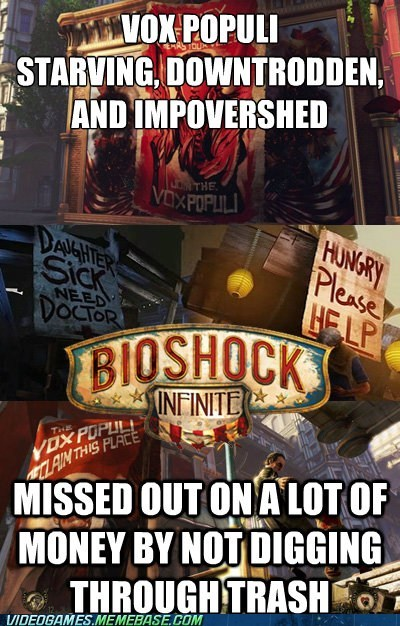 bioshock infinite,video game logic