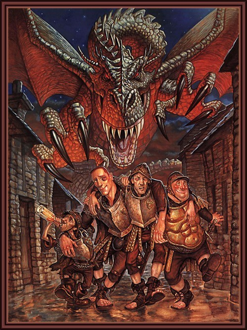 art terry pratchett dragons - 7246310656