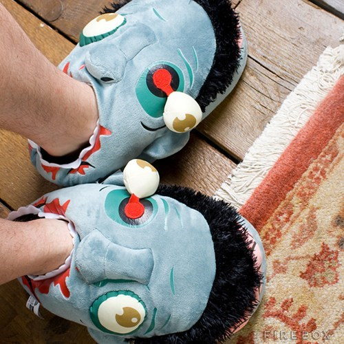 nerdgasm,slippers,zombie