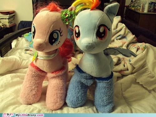 cute dawww ponies plushies socks - 7248019712