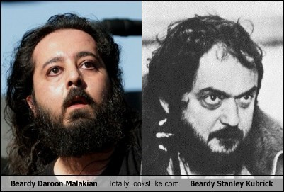 totally looks like,stanley kubrick,beards,daroon malakian