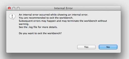 internal error errors