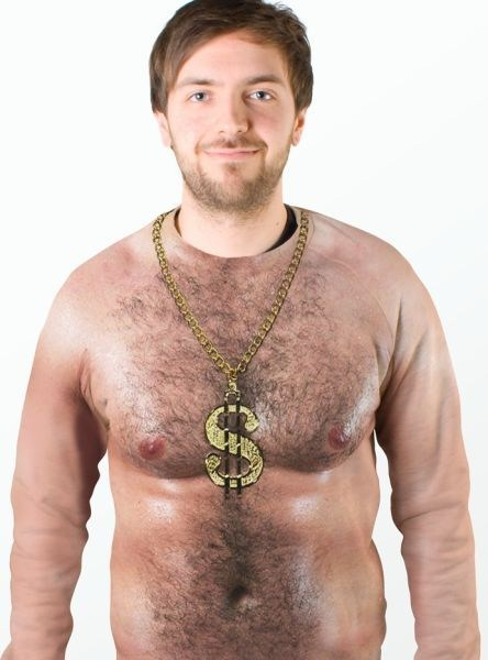 Bling gold chains shirts skin bare chests poorly dressed - 7254466304