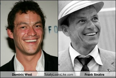 frank sinatra,Dominic West,totally looks like