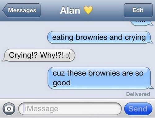 crying cant-help-it brownies iPhones - 7254685440