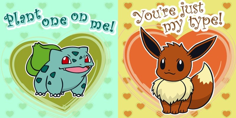 list,Pokémon,valentine,Valentines day