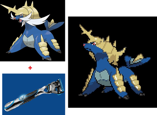 beards,razor,mustaches,samurott