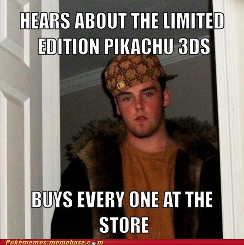 Memes scumbag pikachu 3ds - 7255700224