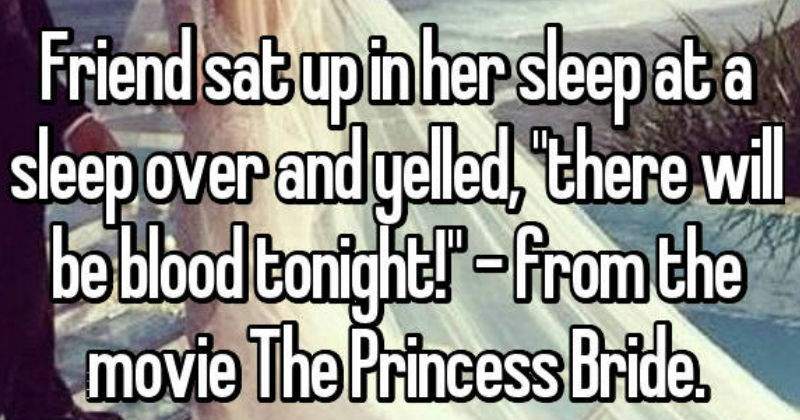 strange things that people say when they sleep