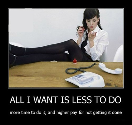 demotivational posters jobs lazy - 7256352768