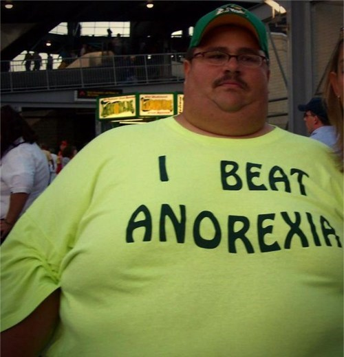 anorexia,obese,t shirts,poorly dressed