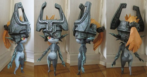 IRL,Midna,papercraft,video games,zelda