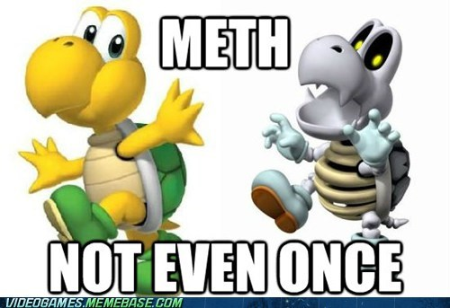 Not Even Once,dry bones,mario,nintendo