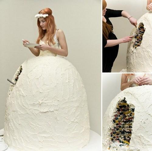 cake wtf wedding dresses - 7256577024