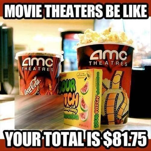 snacks,movie theaters,expensive