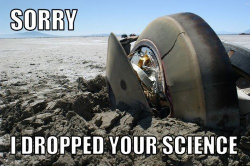 dropped test mars rover