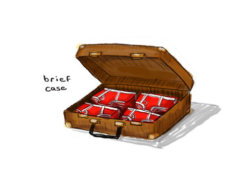 briefcase briefs suitcase undies