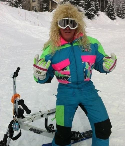 80s,skiing,neon