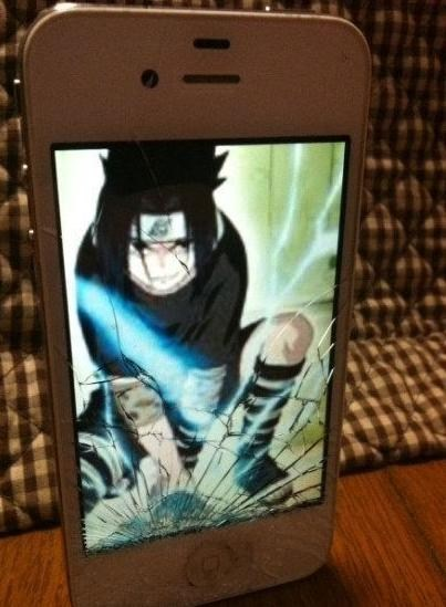 anime broken iphone cracked screen g rated AutocoWrecks - 7257019392