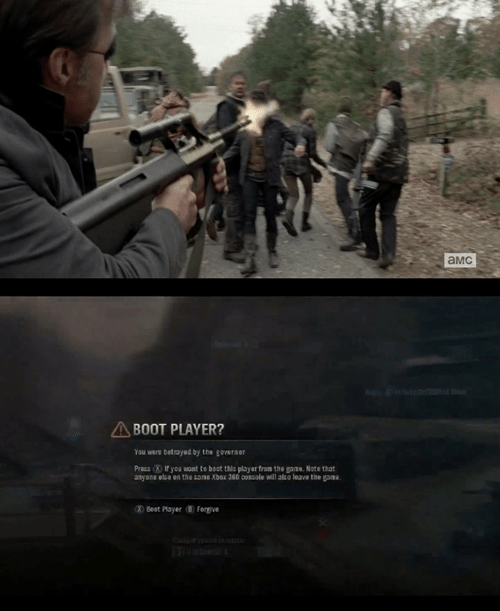 betrayal,halo,The Walking Dead