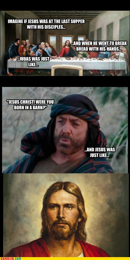 jokes,barns,jesus christ,judas