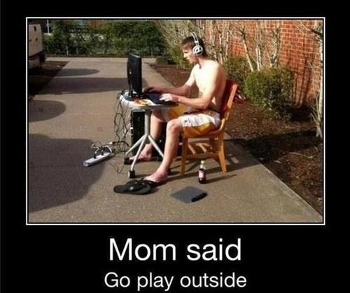 outside,playing outside,computer games