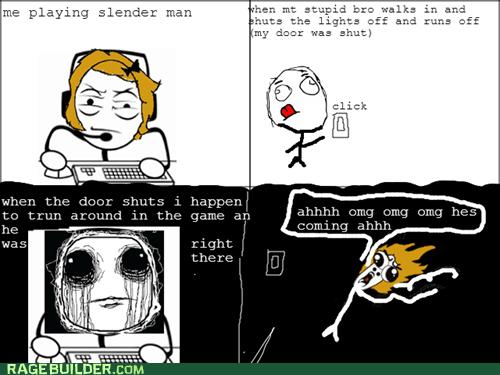slender man computer games slender - 7257789184