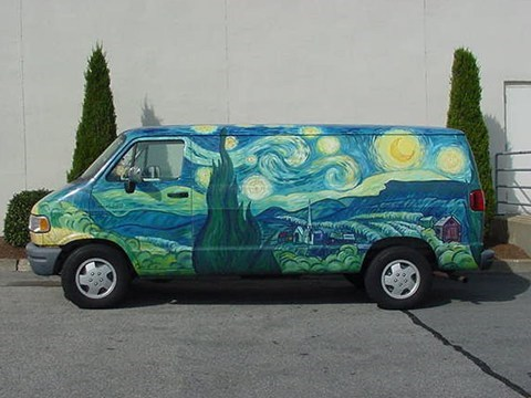 art Van Gogh design van - 7258291968