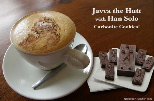 star wars,nerdgasm,jabba the hutt,coffee,latte art,g rated,win
