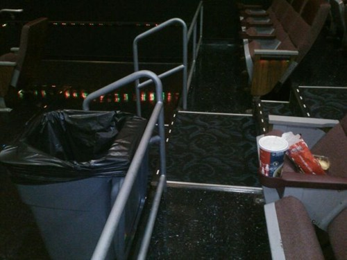 trash lazy movie theater